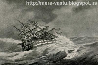 डूबती हुई नाव या लहरों मे फसी हुई नाव मन मे नकारतमक व निराशा का भाव पैदा करती है। इसलिए ऐसी तसवीरों को घर से दूर रखें।