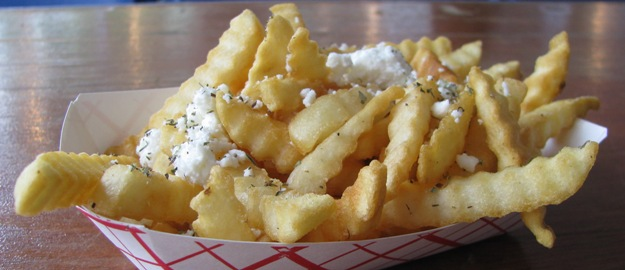 Greek Fries served at the Gold Coast Greek Fest in Chicago, Illinois