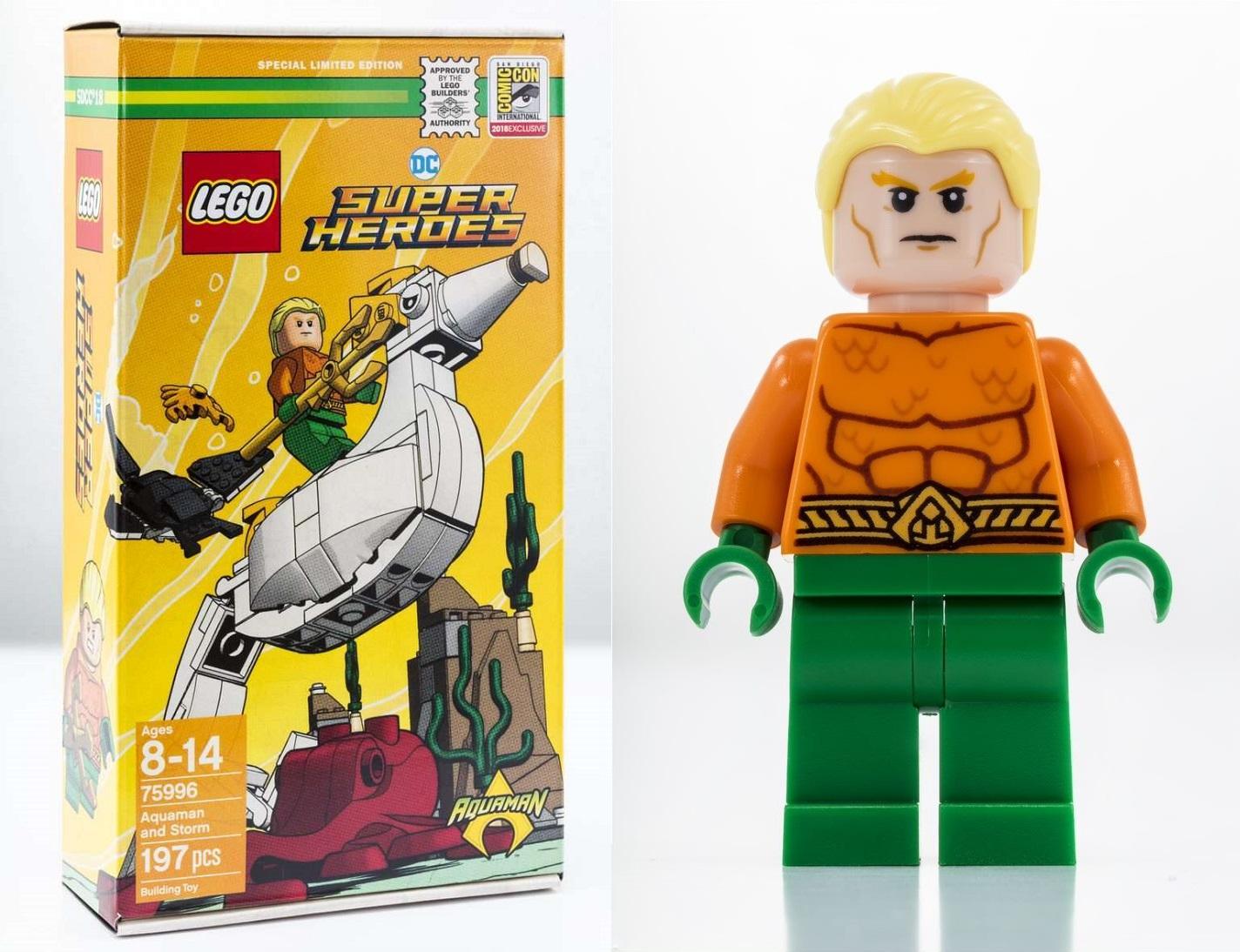 135485a2 San Diego Comic-Con 2018 Exclusive DC Comics Super Heroes Aquaman LEGO Set