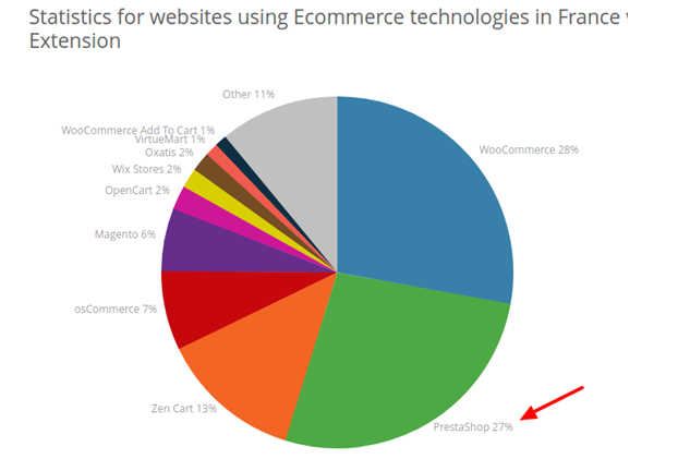 France Statistics- Ecommerce Platforms