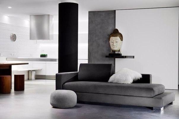 loft гостиная с диваном