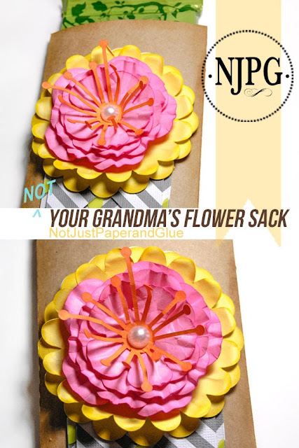 {NOT} Your Grandma's Flower Sack,  Tammy @ Not Just Paper and Glue, Digi Playground, SVG Files