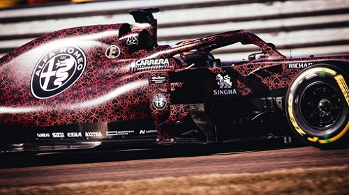 Alfa Romeo reveals new F1 Car 2019 with Red Hearts.