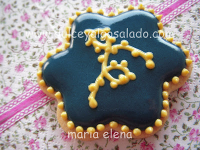 Dulce Y Algo Salado Galletas Decoradas Galletas Marino Oro