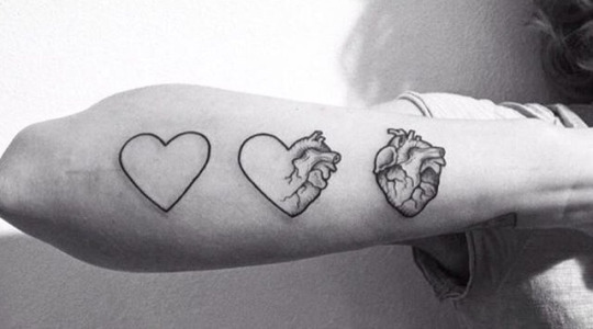 Amazing Forearm Heart Tattoos