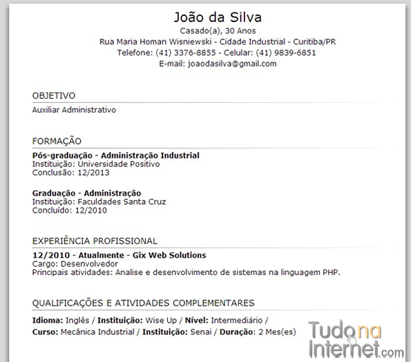Curriculum Vitae Modelo Gratis Descargar Free Document Resume Samples