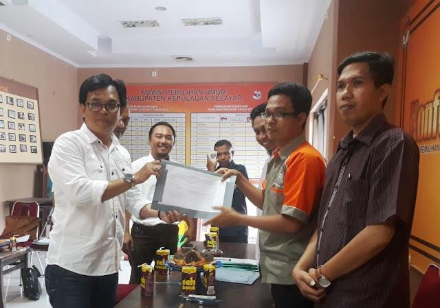 Gerindra Selayar, Serahkan Berkas Pendaftaran Partai ke KPU
