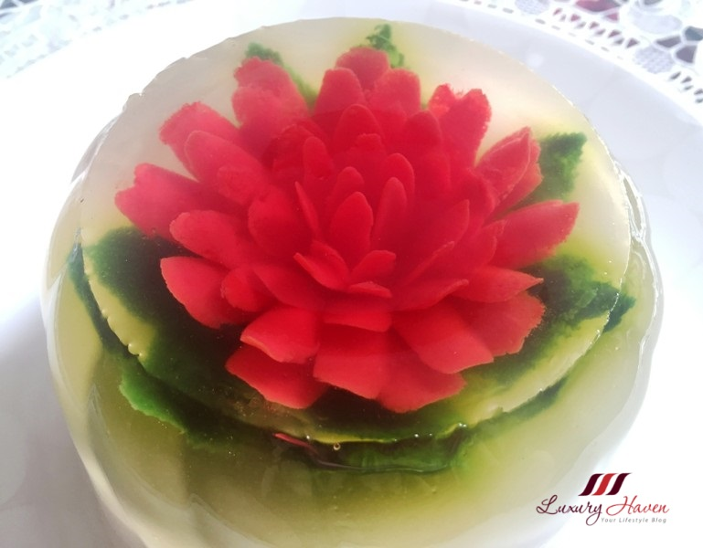 fun food 3d jelly flowers with lychees