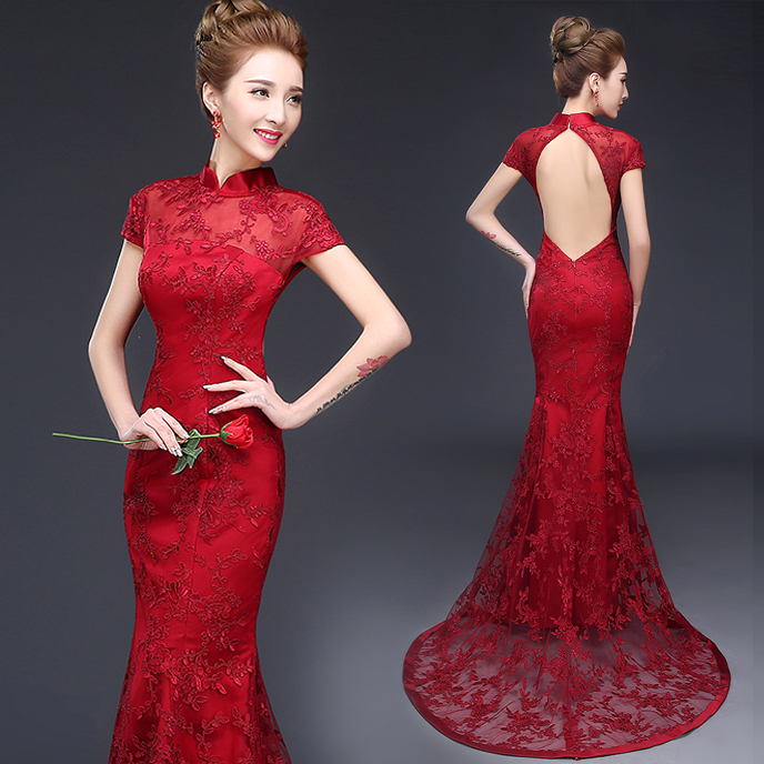 2677e20dfb50e ... Bridesmaid Dresses From China: Mis Vestidos De Novia: Novias Chinas:  Modern Qipao