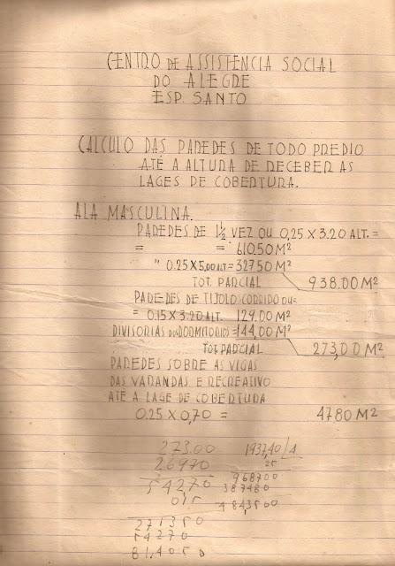 Projeto do Centro de Assistência Social, Alegre, ES.