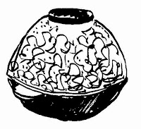 Sketch of a traditional popcorn popper by David Borden (c) 2015.