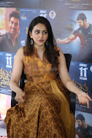 Rakul Preet Singh smiling Beautyin Brown Deep neck Sleeveless Gown at her interview 2.8.17 ~  Exclusive Celebrities Galleries 214.JPG