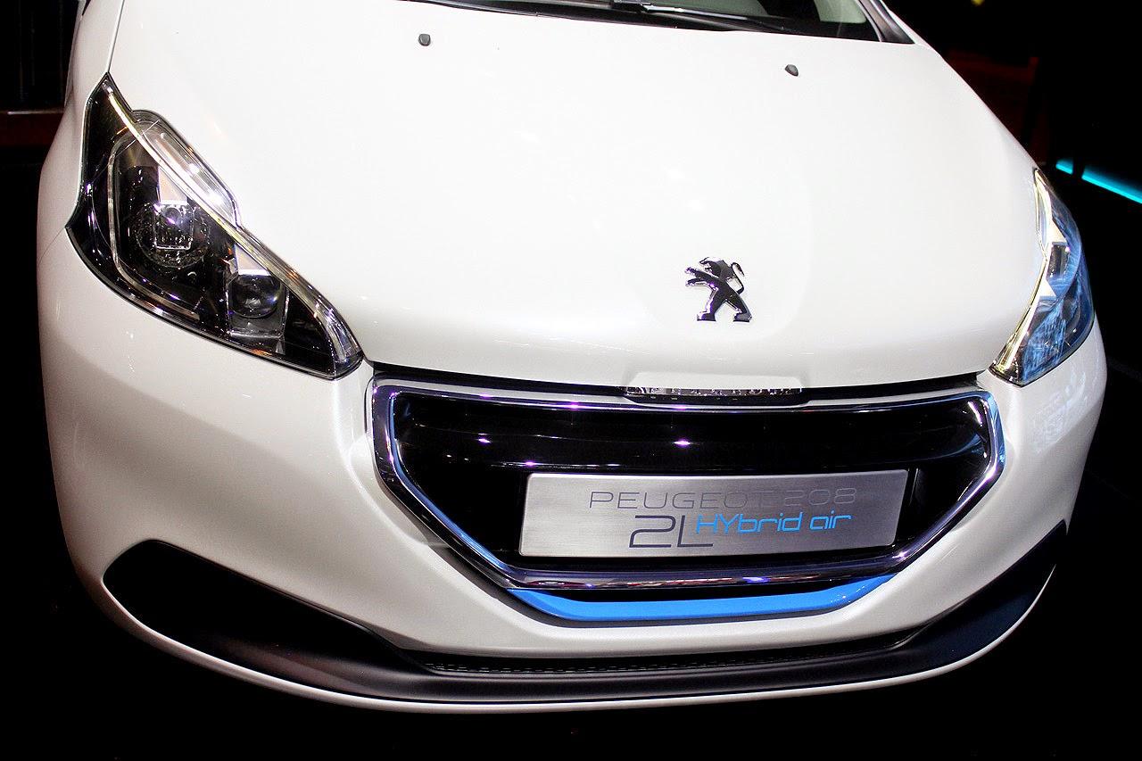 automotiveblogz: peugeot 208 hybrid air: paris 2014 photos