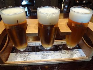 サッポロビールの博物館の飲み比べ
