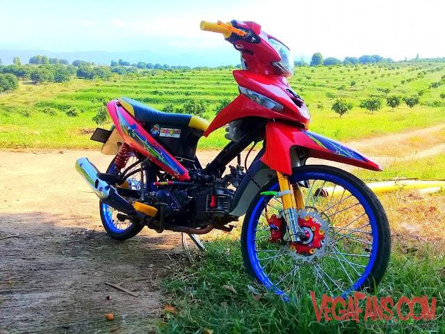 Vega ZR Modif Thailook Merah Simple
