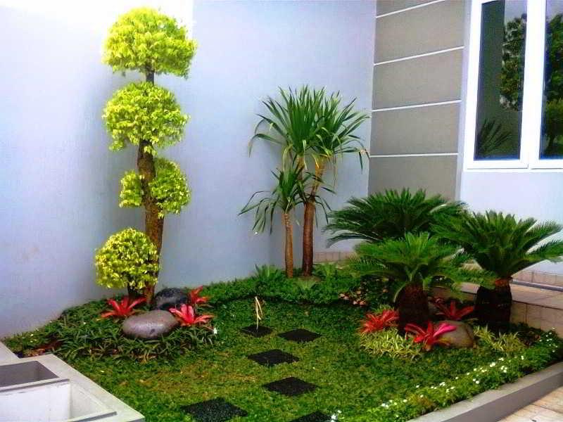 Desain Taman Kering Minimalis Depan Rumah
