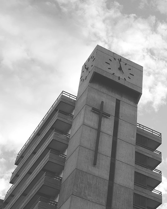 brutalist, architecture, concrete, Spain, travel photography, black and white, Sam Freek,