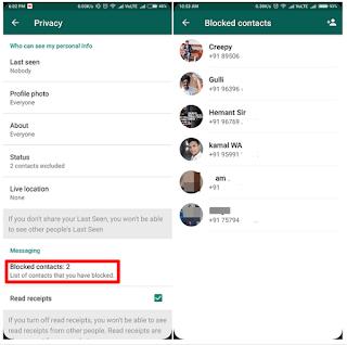 Begini Cara Melihat Kontak yang Diblokir Di WhatsApp