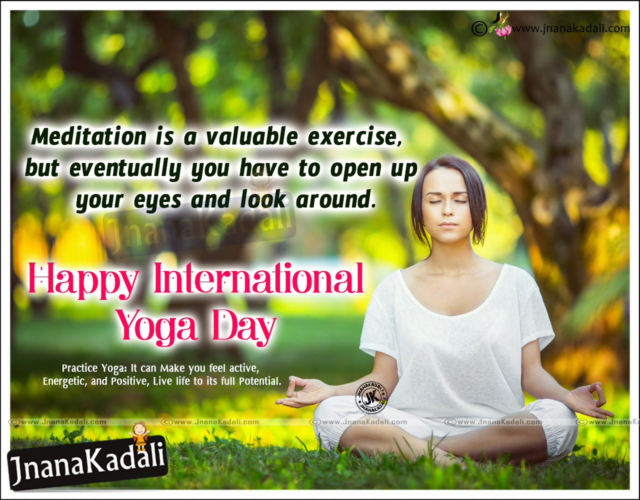 Happy International Yoga Day 2016 Quotations Pictures Jnana Kadali Com Telugu Quotes English Quotes Hindi Quotes Tamil Quotes Dharmasandehalu