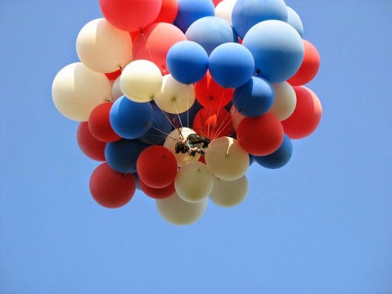 Gambar balon terbang untuk anak