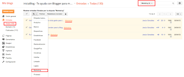 Reetiquetado de post en Blogger