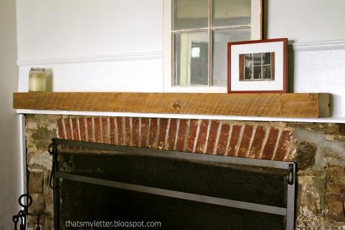farmhouse dining room mantel