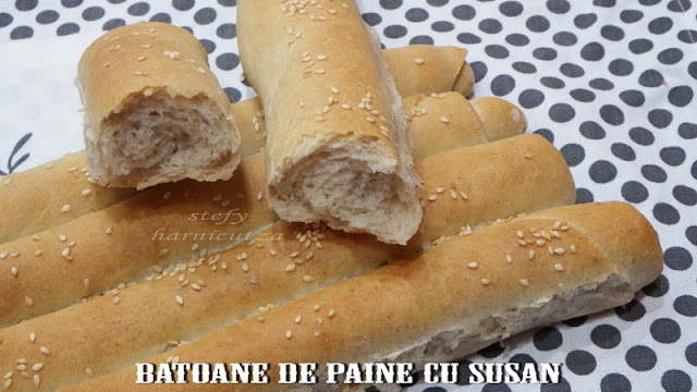 Batoane de paine cu susan