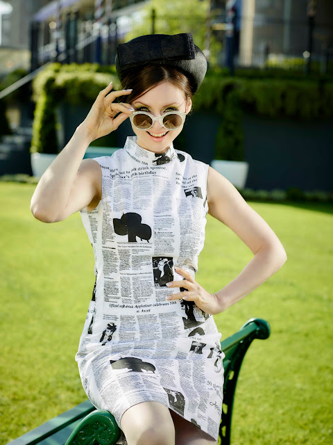 Joanne Edwards Millinery collaborates with Appletiser: Photoshoot with Sophie Ellis-Bextor