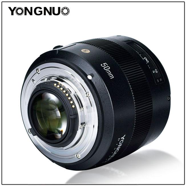 Объектив Yongnuo YN 50mm f/1.4N E, вид сзади