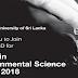 M.Sc in Environmental Science - இலங்கை திறந்த பல்கலைக்கழகம்.