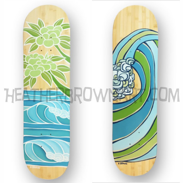 heather brown surf art