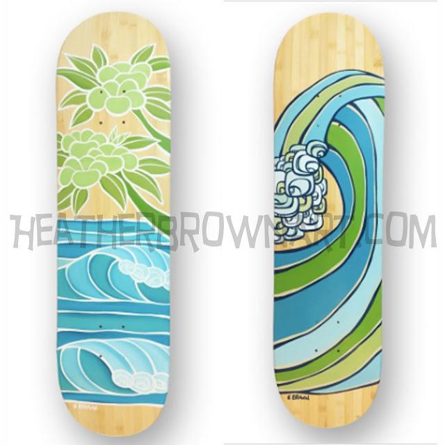 heather brown surf art
