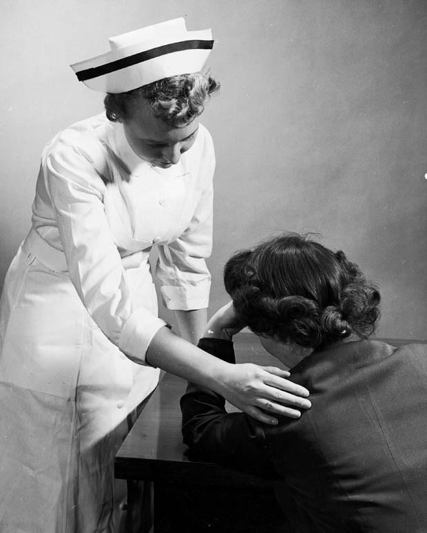 Psych nurses calmed an anxious person