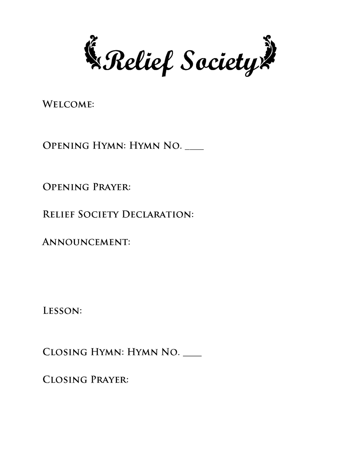photo regarding Relief Society Declaration Printable referred to as Aid Culture - Opening Fitness Computer software