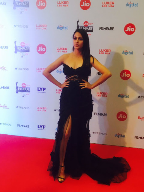 Lavanya Tripathi at Jio Filmfare South 2017 on the Red Carpet