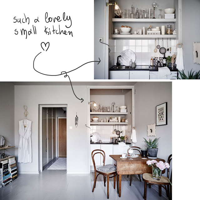 small space kitchen, 25 sq.m. • the round button blog