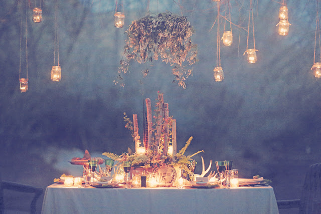 bride+groom+bridal+dress+gown+floral+hair+wreath+rustic+woodland+ecofriendly+eco+friendly+green+emerald+color+of+the+year+pantone+cake+dessert+table+reception+centerpiece+blue+hipster+fall+autumn+gideon+photography+50 - Woodland Fairytale