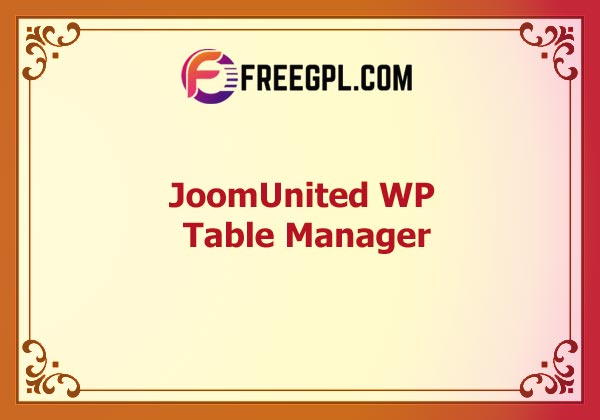JoomUnited WP Table Manager Nulled Download Free