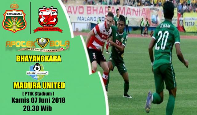 Prediksi Bhayangkara FC vs Madura United 7 Juni 2018