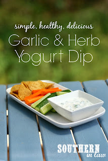 Healthy Garlic and Herb Yogurt Dip Recipe Low Fat