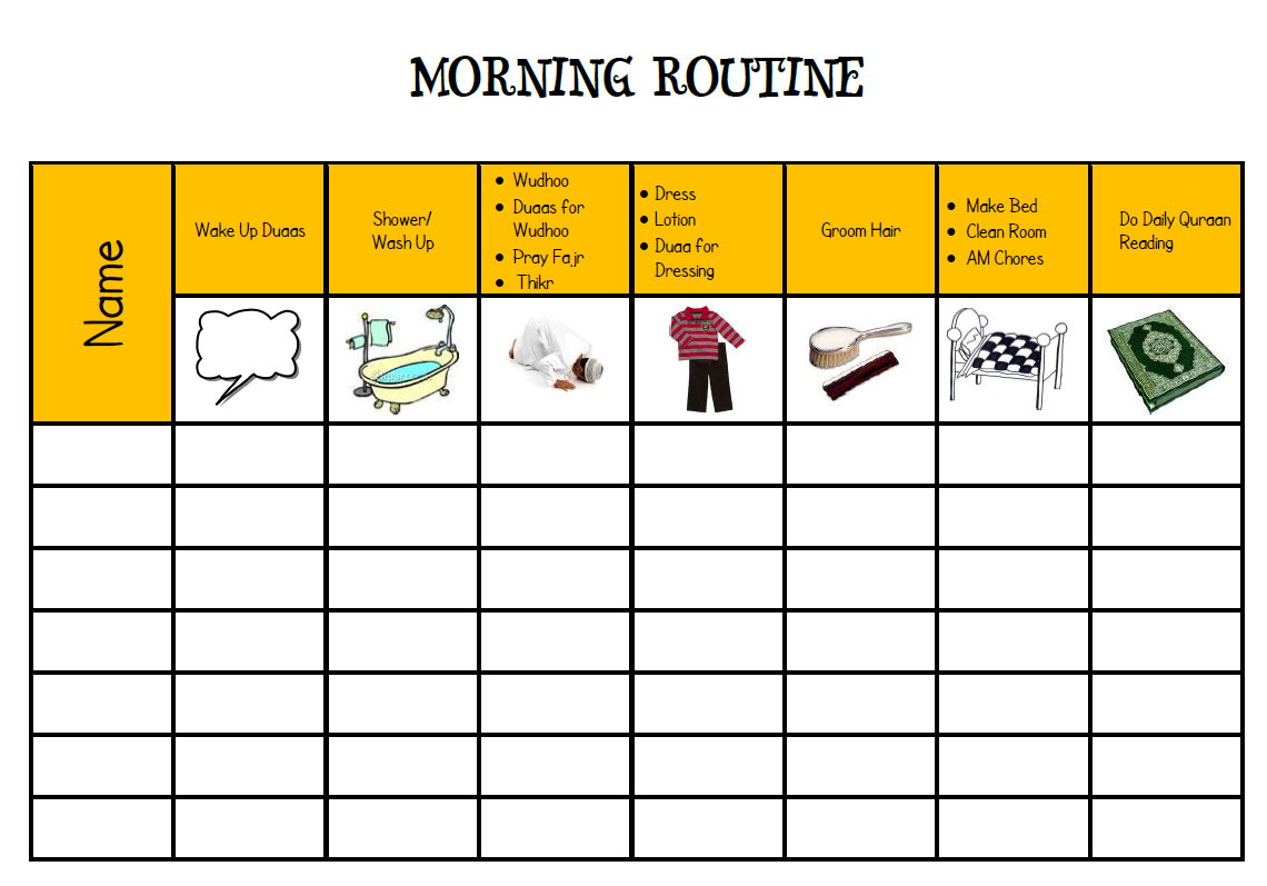 The Importance Of Establishing Daily Routines