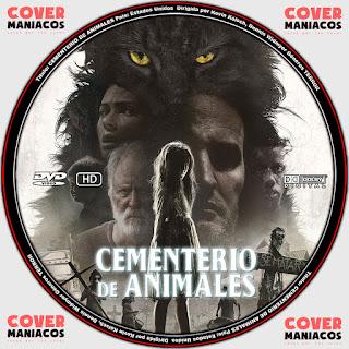 Pet Sematary 2019 - CEMENTERIO DE ANIMALES [ COVER DVD ]GALLETA - LABEL