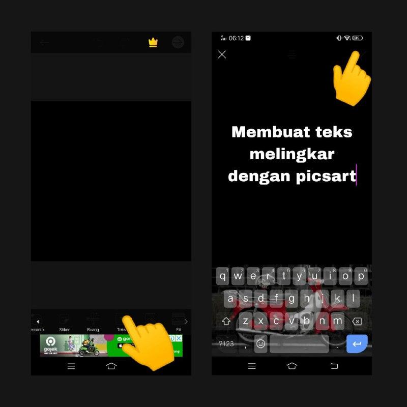 Cara Membuat Teks Melengkung Dengan Picsart Android