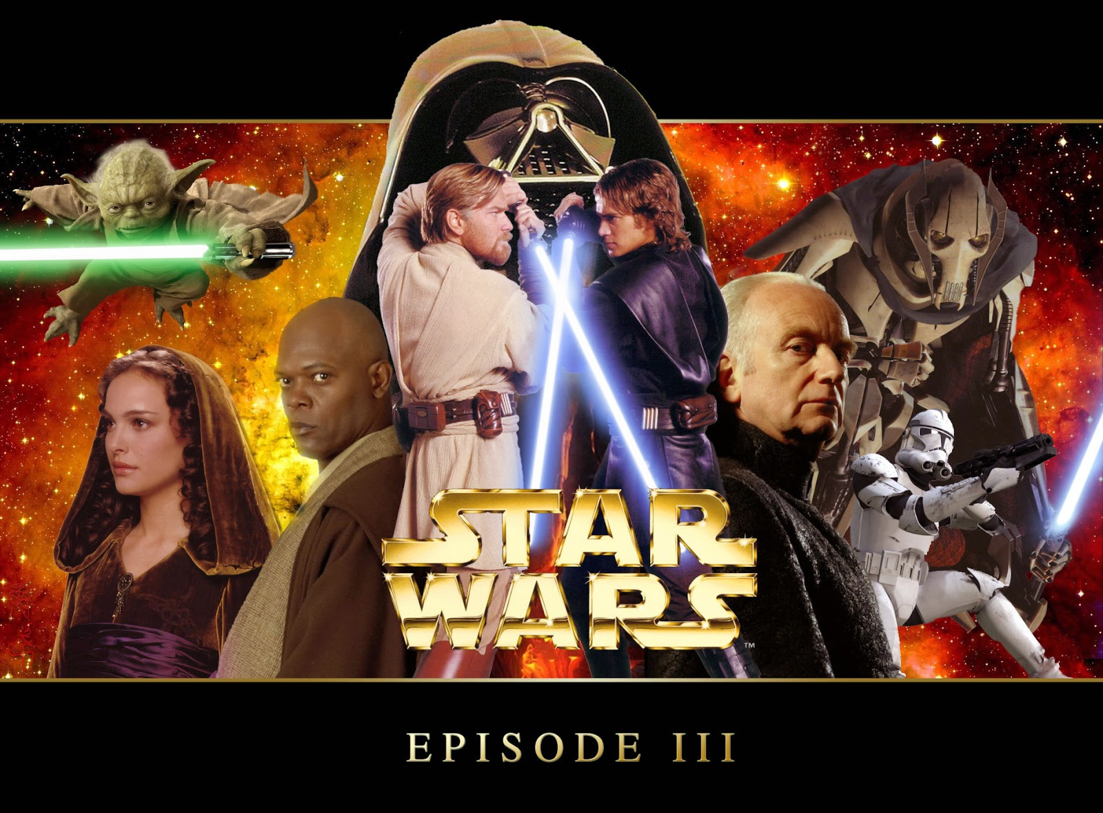 Star wars revenge of the sith blu-ray label dvd covers.