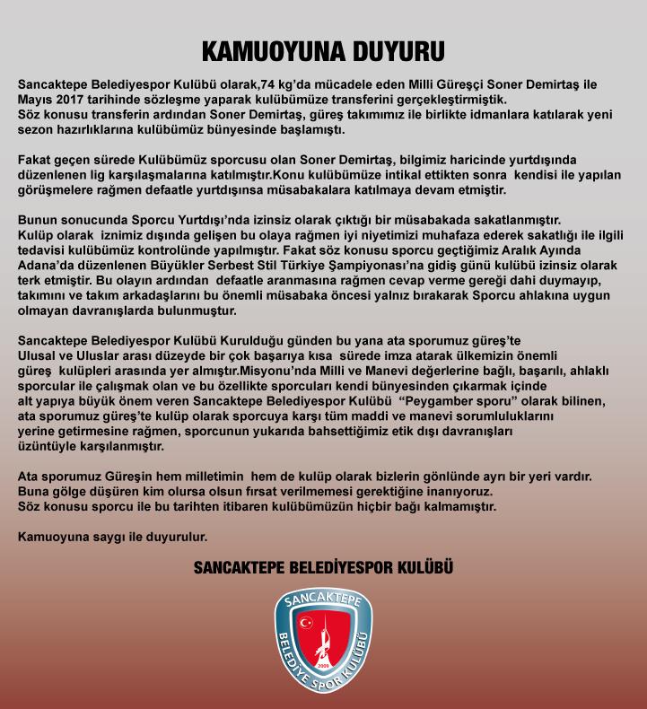 Sancaktepe Belediyespor'da milli kriz