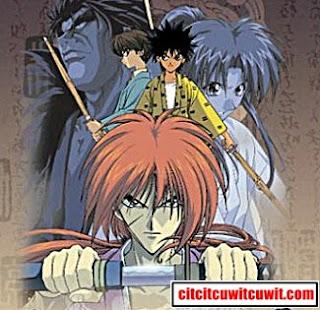 rurouni kenshin : wandering samurai anime terbaik sepanjang masa nomor 21