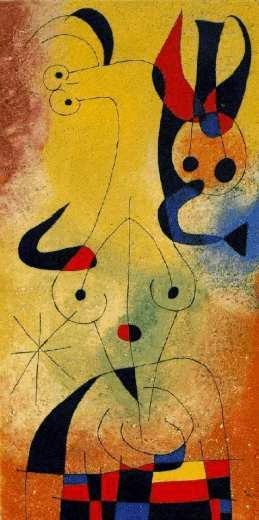 Amanhecer Perfumado por uma Chuva de Ouro - Miró, Joan e suas principais pinturas
