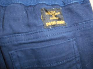 100㎝  プチマイン パンツ 紺 リサイクル ロゴ