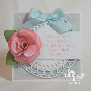 Our Daily Bread Designs Paper Collections: Shabby Pastels, Shabby Rose, Custom Dies: Filigree Circles, Filigree Frames, Rose Leaves, Roses, Stamp Set: God Verses 2