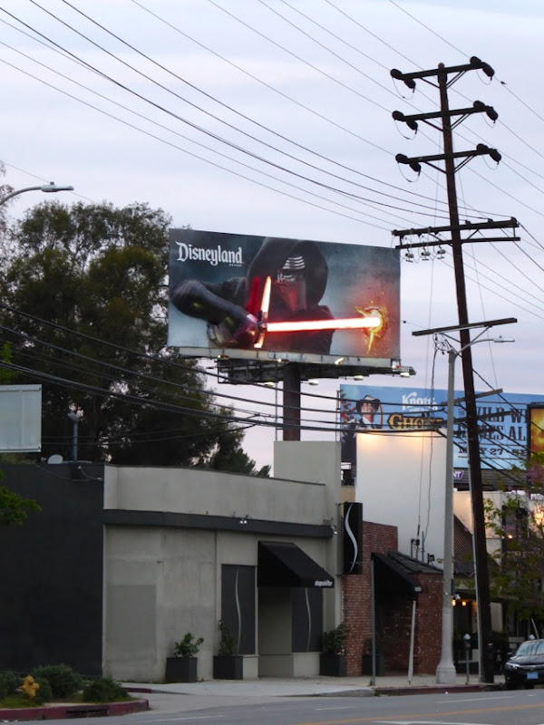 Disneyland Star Wars Kylo Ren lightsaber billboard